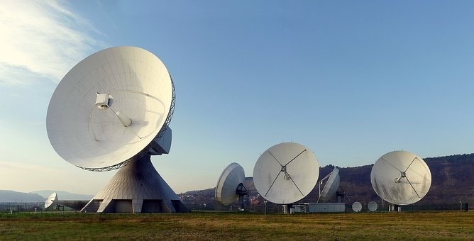 Radar Dish, Radar, Earth Station, Fuchsstadt, Reception