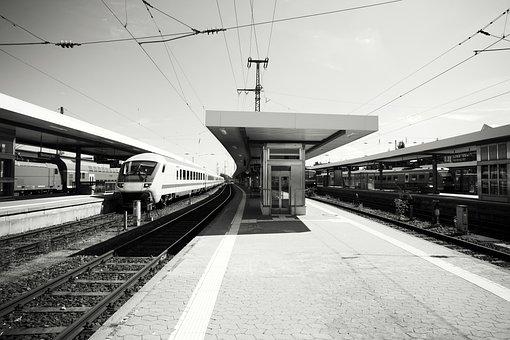 Railroad Track, Railway Station, Travel, Train, Ice
