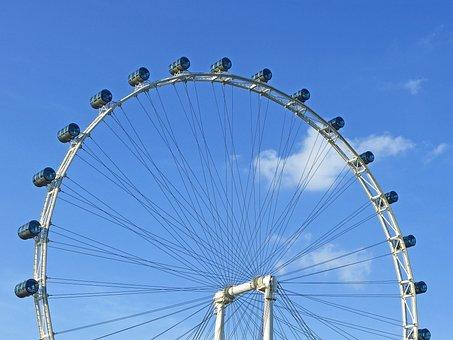 Singapore Flyer, Ferris Wheel, Big Wheel, River
