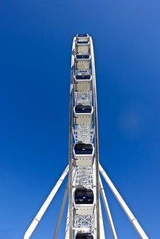 Ferris Wheel, Joyride, View, Recreation, Circle, Round