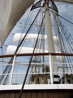 Sailing Ship, Sailing, Wind, Wind And Water, Sea