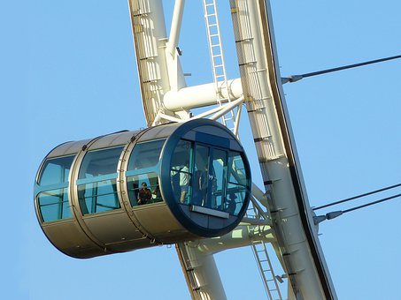 Singapore Flyer, Ferris Wheel, Big Wheel, Blue Sky
