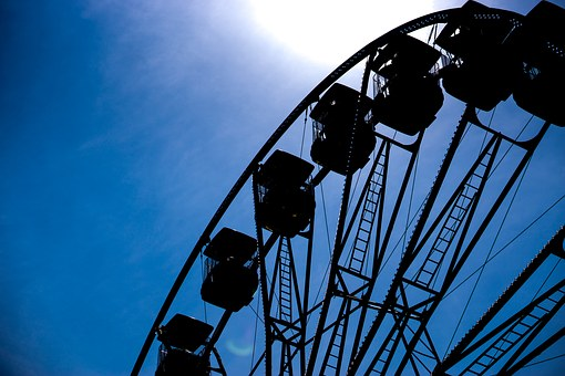 Ferris Wheel, Ride, Fun, Sky, Summer, Sunny, Seaside