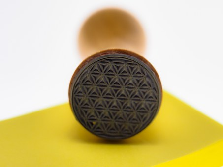 Stamp, Flower Of Life, Block, Note, List, Stamp Pads