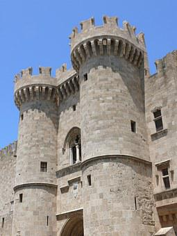 Castle, Fort, Palace Of The Grand Masters, Old, Stones