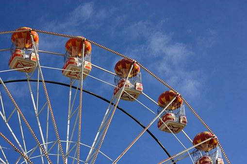Ferris Wheel, Blue Skies, Wheel, Sky, Blue, Ferris