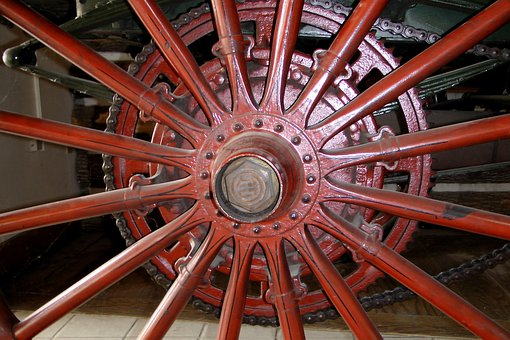 Wheel, Carriage, Wooden Wheel, Wooden, Axle, Spokes