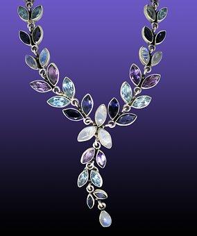 Moonstone, Ground, Jewellery, Necklace, Adulareszenz