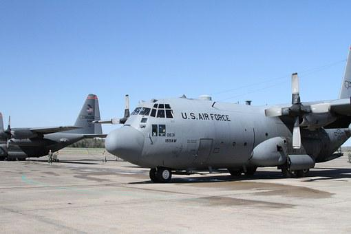 Airplane, C-130, Military, Transport, Hercules
