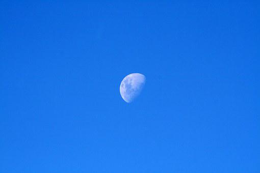Sky, Moon, Half, Nature, Planet, Cosmos, Astronomy