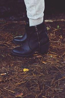 Autumn, Shoes, Boots, Black, Leather, Style, Outfit