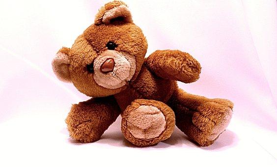Bear, Teddy, Toy, Cute, Soft, Brown, Animal, Childhood