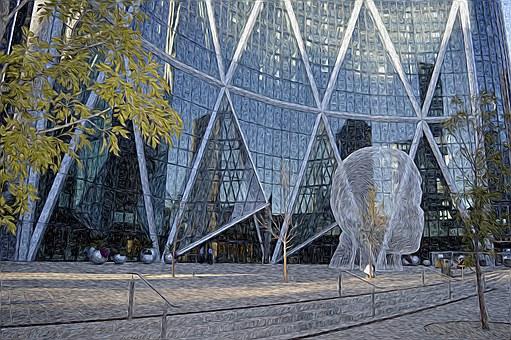 Calgary, City, Canada, Urban, Office, Architecture