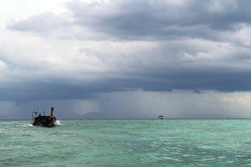 Forward, Tropics, Sea, Nature, Summer, Clouds, Weather