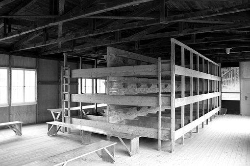 Konzentrationslager, Dachau, Barracks, Dormitory