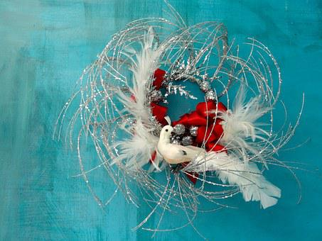 White Dove, Christmas, Seasonal, Decoration, Winter