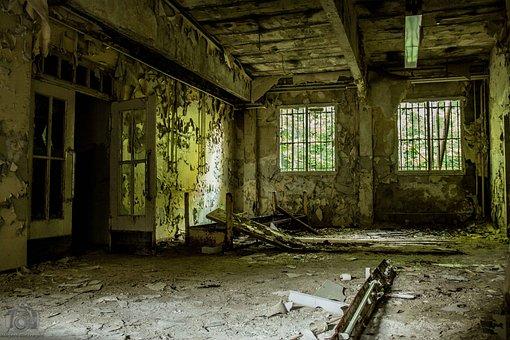 Dilapidated, Ruin, Barracks, Building