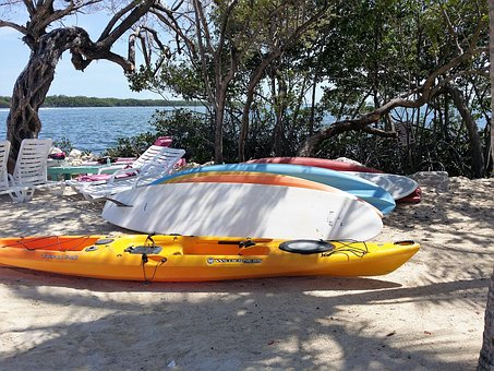 Ocean, Kayak, Florida Keys, Beach, Surf, Board