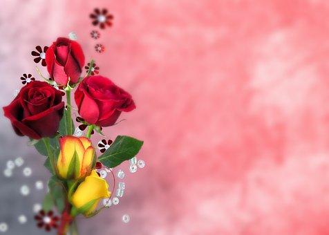 Flower, Arrangement, Rose, Bouquet, Floral, Computer