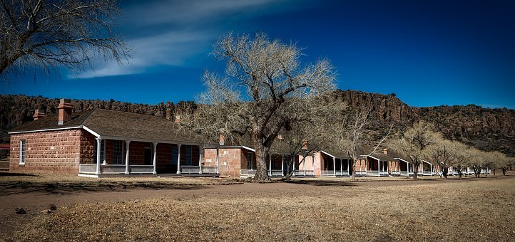 Fort Davis, Panorama, Old, Military, Army, Barracks