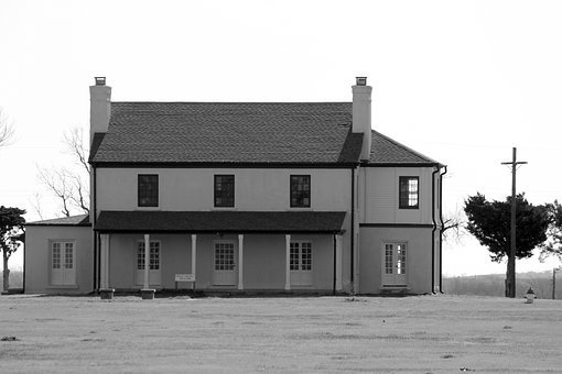 Fort Reno, Officers, Barracks, Military, Historic, Fort