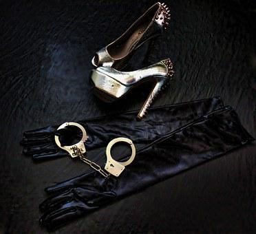 High Heels, Sexy, Woman, Erotic, Pose, Bdsm, Handcuffs