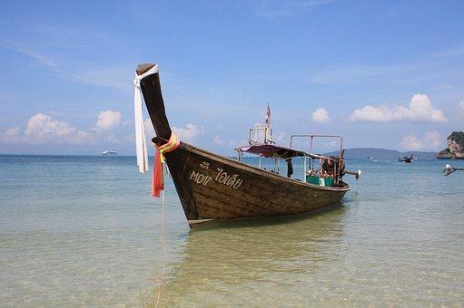 Thailand, Longtail, Boat, Sea, Tropical, Island, Thai