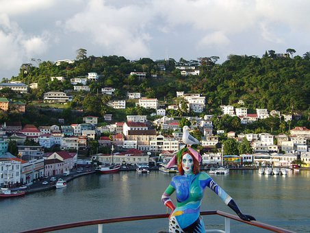 Grenada, City, Homes, Live, Ship, Galionsfigur