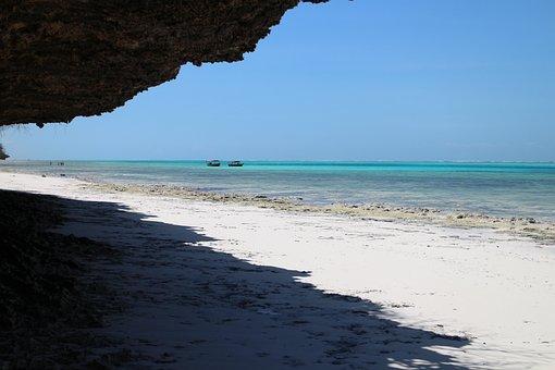 Beach, Sand, Sand Beach, Long-tail Boat, Ship, Boat