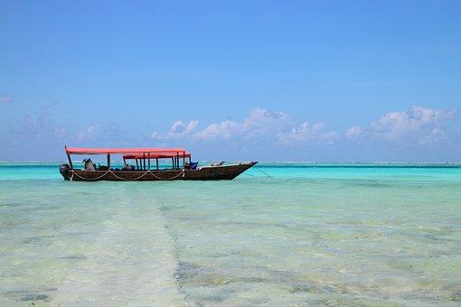 Beach, Sand, Sand Beach, Long-tail Boat, Ship, Boot