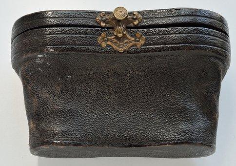 Case, Binoculars, Skin, Nero, Original, Ancient