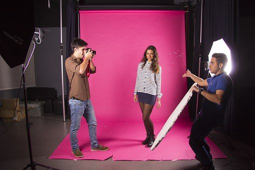 Photography, Set, Magic, Photoshoot, Pink Background