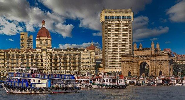 Mumbai, Gateway To India, India, Ship, Ships, Sea, Port