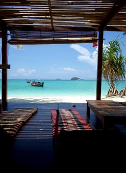 Beach, Sea, Boat, Ocean, Paradise, Wood, Hotel, Seaside