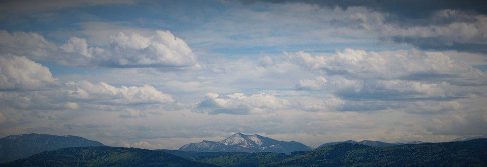 Distant, Mountains, Landscape, Scenic, Outlook, Sky