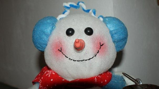 Snowman, Christmas, Christmas Eve, White, Face, Smile