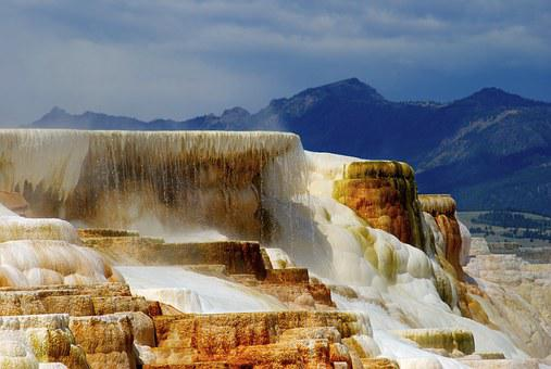 Mammoth, Yellowstone, Thermal, Geothermal, Hot, Springs