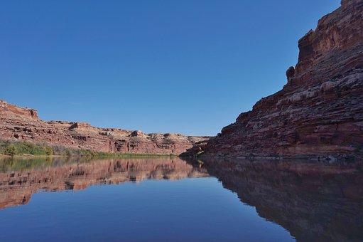 River, Canoe, Southern, Utah, Water, Summer, Kayak