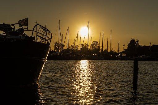 Harbor, Sunset, Marine, Pier, Maritime, Nautical, Sea