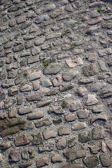 Cobblestones, Stones, Texture, Sidewalk, Grey, Paving