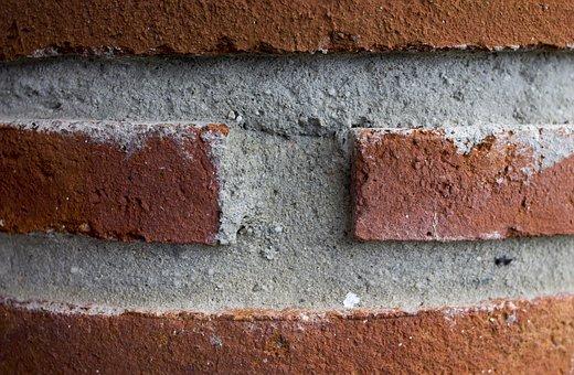 Bricks, Construction, Column, Texture, Cement
