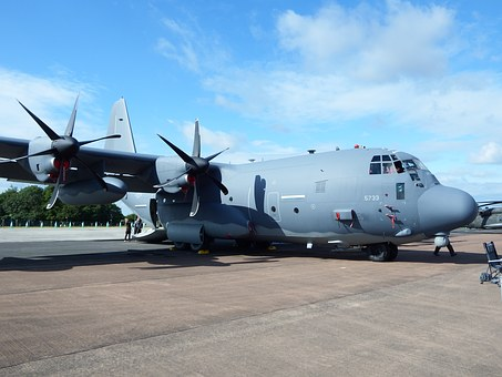 Hercules, C-130, Lockheed, Transport, Military