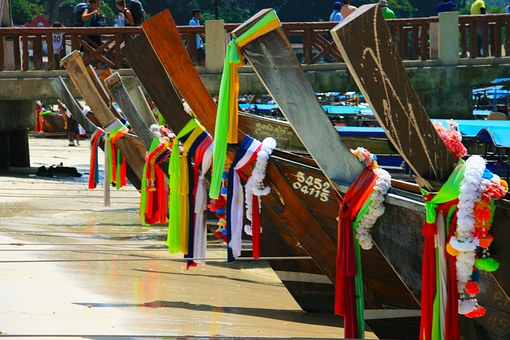 Boats, Thailand, Sand, Travel, Tourism, Water, Tropical