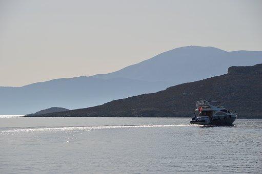 Chalki, Harbour, Boat, Sea, Sky, Water, Ocean, Nature