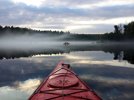 Kayaks, Lake, Nature, Landscape, River, Water, The Fog