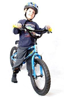 Kid, Bike, Boy, Isolated, Activity, White, Years