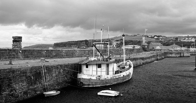 Cumbria, Whitehaven, Sea, Coastal, Water, Stone