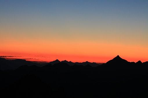 Alpine, Austria, Mountains, Sunrise, Landscape, Nature