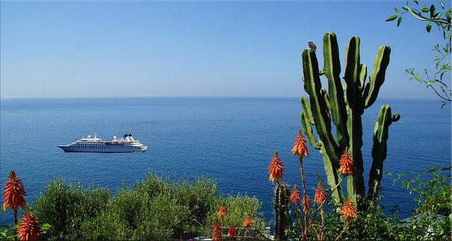 Italy, Amalfi Coast, Water, Horizon, Bueten, Holiday