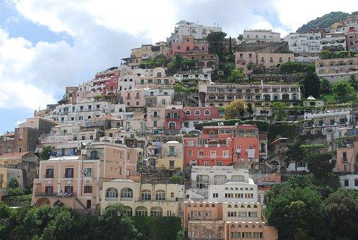 Amalfi Coast, Positano, Italy, Coast, Mediterranean